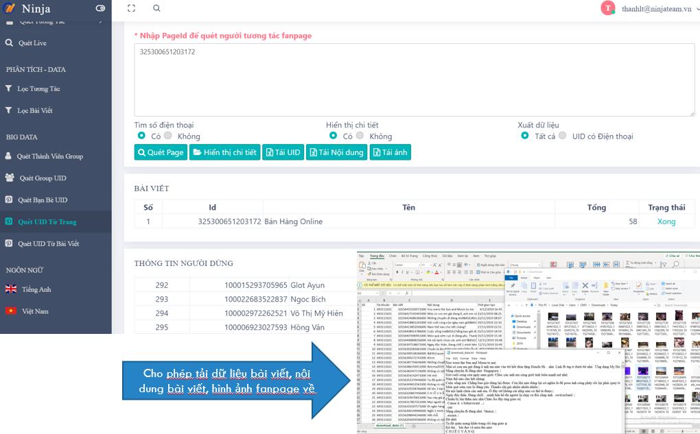 Phần mềm hỗ trợ quét uid từ trang