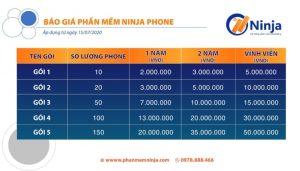 Bảng giá phần mềm nuôi nick trên điện thoại