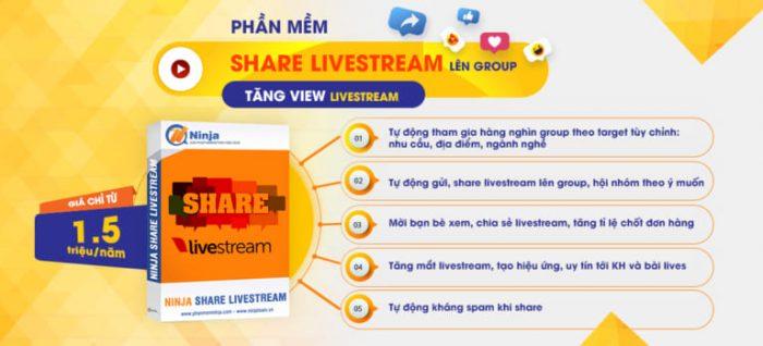 Tool chia sẻ livestream tự động - NInja Share Livestream