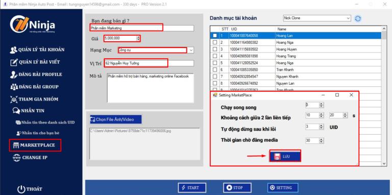 Phần mềm tương tác Facebook auto post client