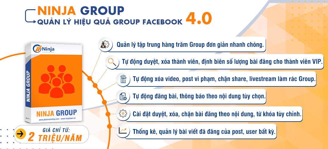 phần mềm quản lý group facebook hiệu quả